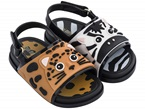 Sandali con fantasia leopardo e zebra
