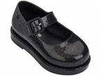 Scarpe nere glitter con fibbia