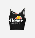 TOP ELLESSE HERITAGE BLACK CON LOGO 892502
