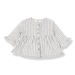 Camicia a maniche lunghe e righe verticali