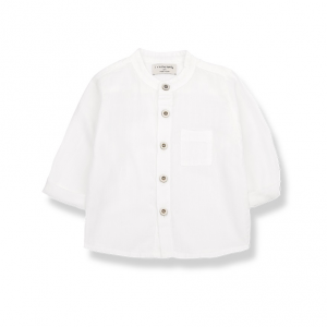 Camicia bianco sporco con taschino