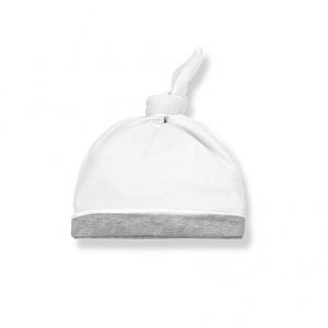 Cappello bianco con elastico grigio