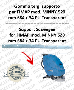 MINNY 520 squeegee rubber support for FIMAP