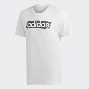 T-SHIRT ADIDAS LIN BRUSH T WHITE/BLACK DV3050