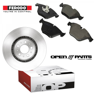 KIT DISCHI FRENO + PASTIGLIE (OPEN PARTS - FERODO) (BDA1144.10 - FDB925)