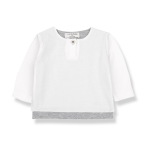 T-Shirt a maniche lunghe con bottone