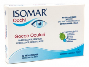 ISOMAR OCCHI GOCCE OCULARI 10 FLACONCINI MONODOSE: RINFRESCANTE, LENITIVO, REIDRATANTE, LUBRIFICANTE