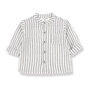 Camicia a righe verticali con taschino