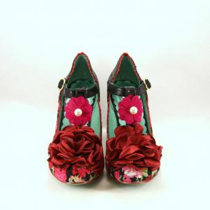 Scarpe donna nero/rosso Irregular Choice.