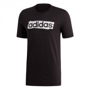 T SHIRT ADIDAS BRUSH BLACK CON STAMPA DV3046