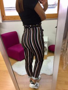 Pantalone Righe Jenè vita alta