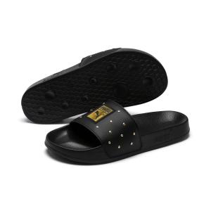 Sandali neri con borchie argento