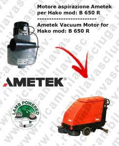 B 650 R Lamb Ametek vacuum motor di aspirazione for scrubber dryer HAKO