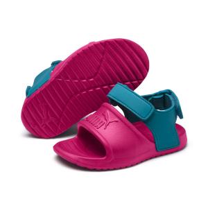Sandali bicolore con chiusura a strappo