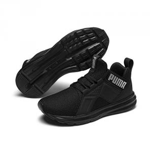 Scarpe nere con stampa logo argento