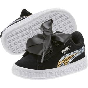 Scarpe nere con fiocco e paillettes oro e bianche