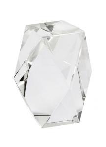 Cristallo fermacarte cm.5x5x8h