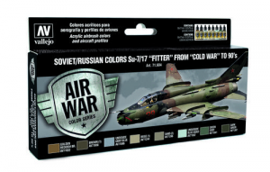 Soviet/Russian colors Su-7/17 Fitter from Cold War to 90s