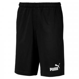 Pantaloncino nero con stampa logo bianco