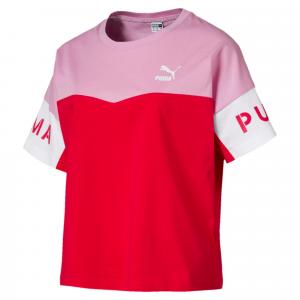 T-Shirt multicolore con stampe logo e scritte