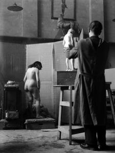 Accademia di Brera, scuola del nudo, 1946