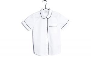 Camicia bianca con dettagli grigi