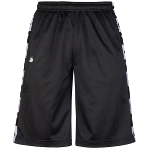 Pantaloncino di tuta nero con stampe loghi neri e bianchi