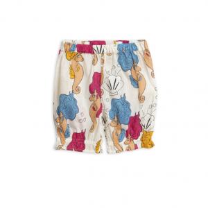 Pantaloni panna con stampe cavallucci marini e conchiglie