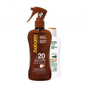 Babaria Sun Protective Sun Oil Spf20 Spray 200ml Set 2 Parti 2018