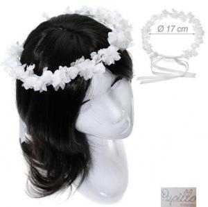 cerchietto f.capelli fiori bianca