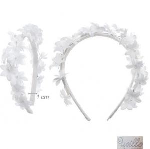 cerchietto fiori bianchi