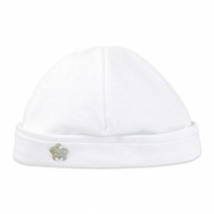Cappello bianco con stella argento