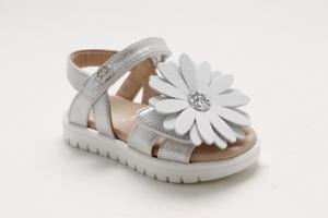 Sandali bianchi con fiore