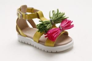 Sandali multicolore con fiocchi