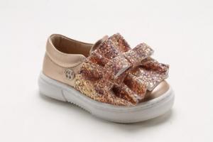 Scarpe con fiocco glitter