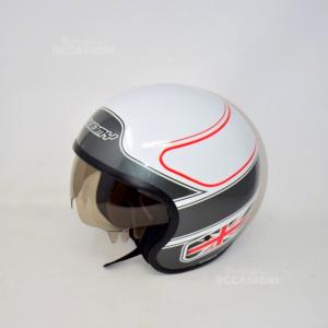 Casco Moto Suomi Bianco Rosso