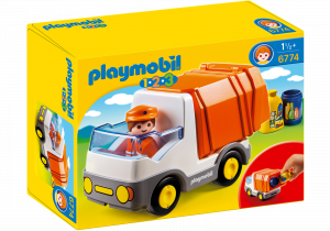 PLAYMOBIL 6774 CAMION SMALTIMENTO RIFIUTI 1.2.3
