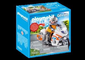 PLAYMOBIL MOTO PRONTO INTERVENTO 70051