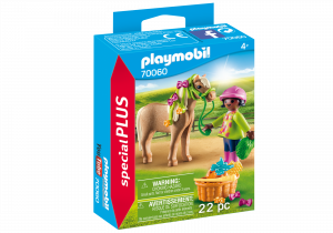 PLAYMOBIL RAGAZZA CON PONY 70060