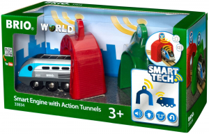 BRIO TECH ENGINE WITH ACTION TUNNELS 33834