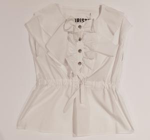Camicia bianca con volant