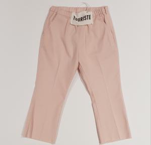 Pantalone rosa con vita elasticizzata
