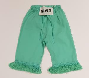 Pantalone verde con nappe