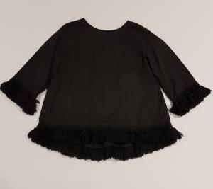 Camicia nera con nappe