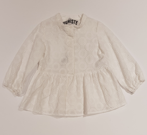 Vestito bianco con ricami
