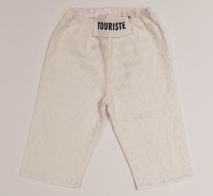 Pantalone bianco con ricami