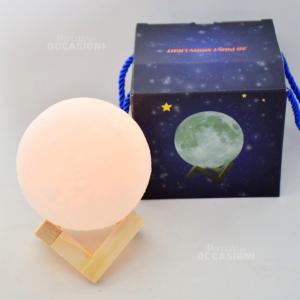 Lampada Palla Luna Ricaricabile Usb