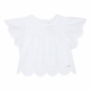 T-Shirt bianca con pizzo