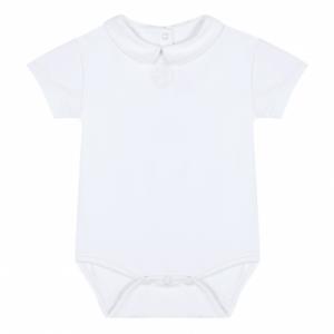 T-Shirt bianca con ricamo logo e body