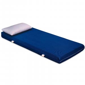 Materasso EVER Blu in Waterfoam ORTOPEDICO alto 15 cm con Cuscini in Memory Foam GRATIS Rivestimento in AIR SPACE tessuto Traspirante Antiacaro per tutti Letti o Reti